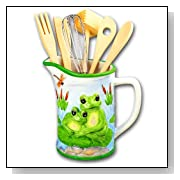 Green Frog Kitchen Utensil Tool Holder