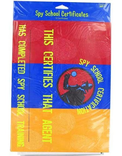 6 Packs of 12 Spy School Certificates6 Packs of 12 Spy School Certificates