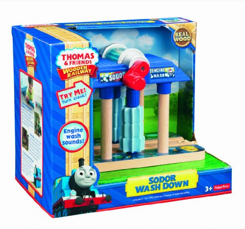 Fisher-Price Thomas the Train Wooden Railway Sodor Wash Down