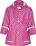 Playshoes - Chubasquero con capucha para niña, talla 86 - talla alemana, color Rosa
