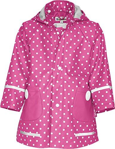 Playshoes Mädchen Regenmantel 408566 Playshoes Kinder Regenmantel, Regenjacke mit Punkten, Pink (Pink ), 86
