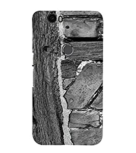 PrintVisa Wooden Design 3D Hard Polycarbonate Designer Back Case Cover for Huawei Google Nexus 6P