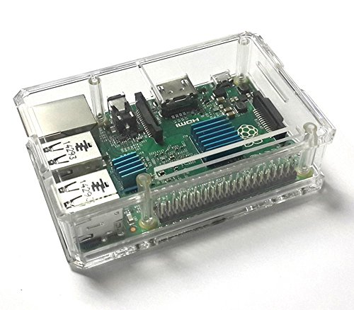 Raspberry Pi 3 Modell B / Raspberry Pi 2 Modell B case, ELTD Protective Case for Raspberry Pi 3 Modell B / Raspberry Pi 2 Modell B ( Raspberry Pi 3 Model B, Transparent)