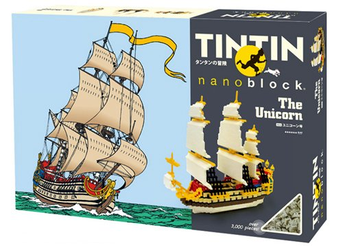 Nanoblock - Tintin - The Secret of the Unicorn Ship - 3000pcs Set by Kawada