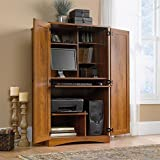 Sauder Harvest Mill Computer Armoire, Abbey Oak Finish