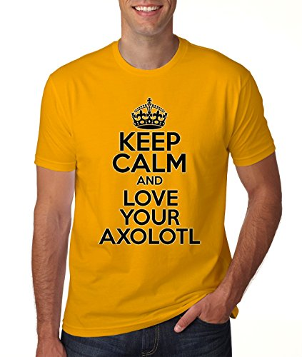 Keep Calm AND LOVE YOUR AXOLOTL Mens Classic T-Shirt Medium