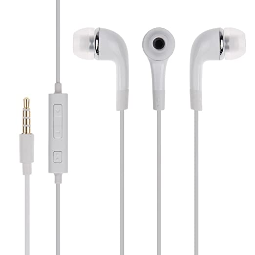 Samsung Galaxy Ace Duos I589 In The Ear Headphone Handfree With Mic And Music With PureBass Performance   White available at Amazon for Rs.299