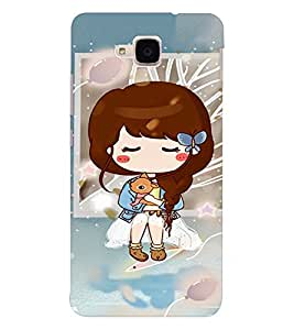 EPICCASE Cute girl with puppy Mobile Back Case Cover For Huawei Honor 5c (Designer Case)