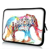 Mklife. Elonno Color the Elephant Neoprene Laptop Sleeve Case Bag Pouch Cover for 13¡¯¡¯ Macbook Pro/Air Dell HP Acer , 13