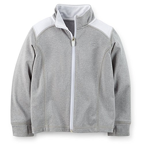 Carter's Little Girls Active Jacket (Heather Grey, 2 Toddler)