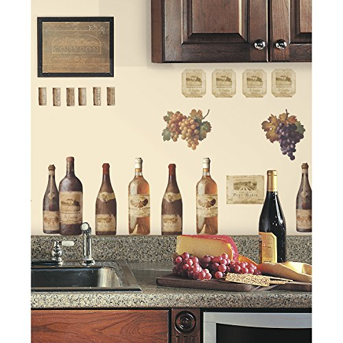 RoomMates RMK1257SCS Wine Tasting Peel & Stick Wall Decals (Wine Cellar Decorations compare prices)