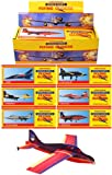 6 MASSIVE 1.5ft Flying Glider Planes Super Air Ace 50cm Party Childrens Toys