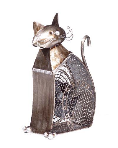 Deco Breeze Decorative Figurine Table Fan, Cat,