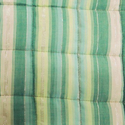 Home Décor artesanales nacimiento de tamaño del bebé del edredón / Colcha Reversible Diseño floral indio Gudri India 48x40 pulgadas blancos