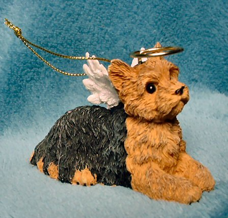 Yorkie Yorkshire Terrier Angel Dog Christmas Ornament
