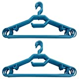 Hanbao Hanger 360* rotating pack of 12 cloth hangers - ICE BLUE