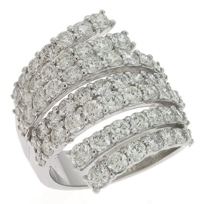 S. Kashi & Sons D3881WG White Gold Diamond Ring - 14KW Ring Size - 7