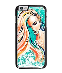 Fuson Long Hairs Girl Back Case Cover for APPLE IPHONE 6 PLUS - D3822
