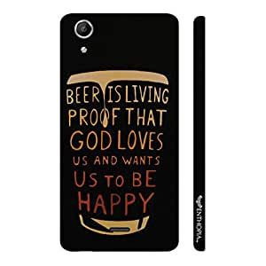 Micromax Canvas Selfie Lens Q345 BEER IS A PROOF designer mobile hard shell case by Enthopia