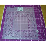 "9"" Feather Square Quilting Stencil"