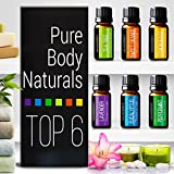 Aromatherapy Top 6 Essential Oils - Therapeutic grade - with Lavender, Tea Tree, Eucalyptus, Sweet Orange, Lemongrass & Peppermint - Basic Sampler Gift Set & Premium Kit - 6/10 M - Parent (1 Pack)
