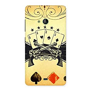 Special Guns And Cards Back Case Cover for Lumia 540