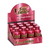 5 Hour Energy Nutritional Beverage, Raspberry, 12 Count, 1.93 Ounce each