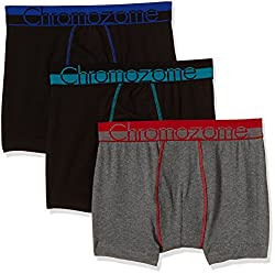 Chromozome Men's Cotton Boxer (Pack of 3) (8902733350051_WS 03_Medium_Black with Aquatonic, Black with World Blue and Charcoal)