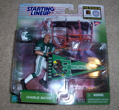 1999 NCAA Football Heroes of the Gridiron Starting Lineup - Charlie Batch - Eastern Michigan - 1