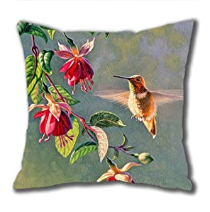 Illustration Painting Fall In Paradise Valley Standard Size Design Square Pillowcase/Cotton Pillowcase with Invisible Zipper in 40*40CM 16*16(527)-527052 from Square Pillowcase