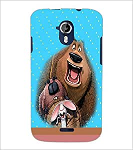 PrintDhaba Funny image D-4696 Back Case Cover for MICROMAX A116 CANVAS HD (Multi-Coloured)