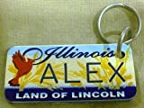 """Illinois Land of Lincoln """"Alex"""" Keychain, Key Holder, Key Ring"""