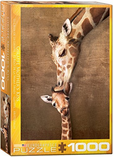 Eurographics-Giraffe-Mothers-Kiss-Puzzle-1000-Piece-by-Eurographics-Toys