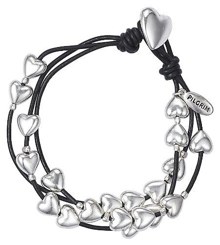 Pilgrim Women's Bracelet Leather Silver 610002