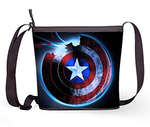 Casual Female Sling Bag Crossbody Bag Shoulder Bag with Captain America Shield Art Print