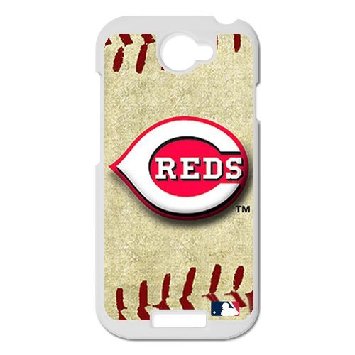 Generic Cell Phone Cases Cover For Htc One S Case Forever Collectibles Fashionable Designed Baseball Team Cincinnati Reds Background Durable Plastic Shell front-904221