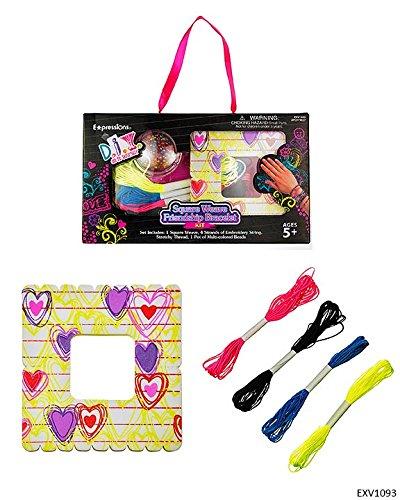 Square Weave Friendship Bracelet Kit - 1