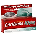 Cortizone-10 Hydrocortisone Anti-Itch Creme, Plus 10 Moisturizers, Maximum Strength, 2 oz.