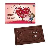 BOGATCHI VALENTINES CHOCOLATES, DARK CHOCOLATES, LOVE CHOCOLATES, PREMIUM CHOCOLATES, Hug Day Bar 70 g