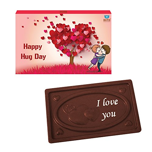 BOGATCHI VALENTINES CHOCOLATES, DARK CHOCOLATES, LOVE CHOCOLATES, PREMIUM CHOCOLATES, Hug Day Bar 70 g