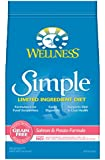 Wellness Simple Natural Grain Free Limited Ingredient Dry Dog Food, Salmon & Potato Recipe, 24-Pound Bag
