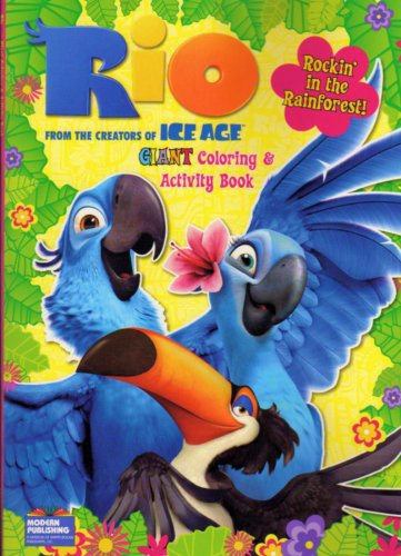 Rio Coloring and Activity Book 96 Pages ~ Take Flight