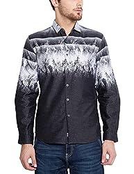 Locomotive Men's Casual Shirt (15110001471400_LMSH010645_M_White)