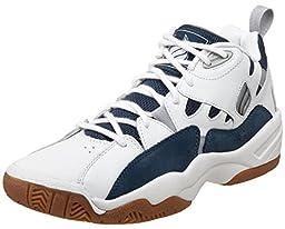 Ektelon Men\'s NFS Classic MID Racquetball Shoes,White/Navy,12 D(M) US