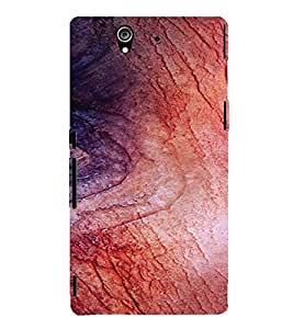 PrintVisa Wooden Design 3D Hard Polycarbonate Designer Back Case Cover for Sony Xperia Z