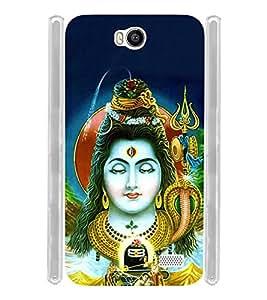 Shiva Shankara Eswara Soft Silicon Rubberized Back Case Cover for Intex Aqua 4.5E :: Intex Aqua 4.5 e