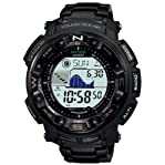 Casio Men's PRG250BD-1 Black Plastic Quartz Watch with Digital Dial