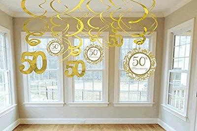 Swirl Decorations 50 Anniversary