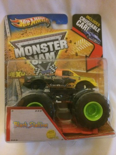 2013 Hot Wheels Monster Jam 1st Editions Black Stallion Includes Crushable Car New Deco