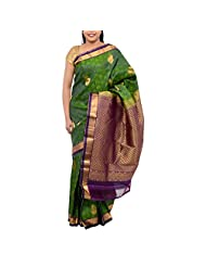 Kothari Leaf Green Silk Saree For Women